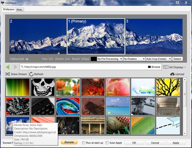 Multiwall Wallpaper Tool For Multiple Monitor Desktops